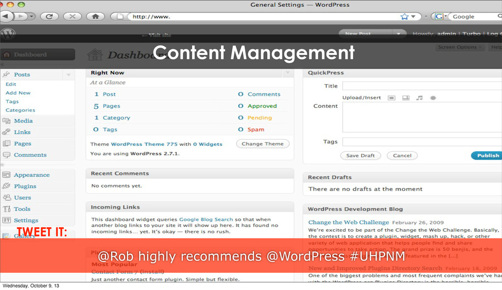 Content Management @Rob highly recommends @Word...