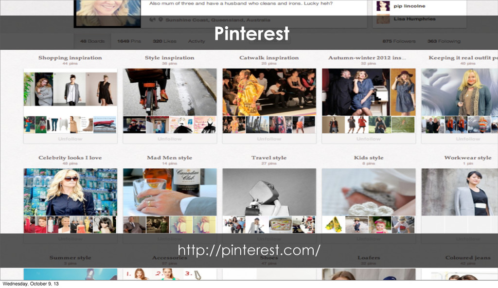 Pinterest http://pinterest.com/ Wednesday, Octo...