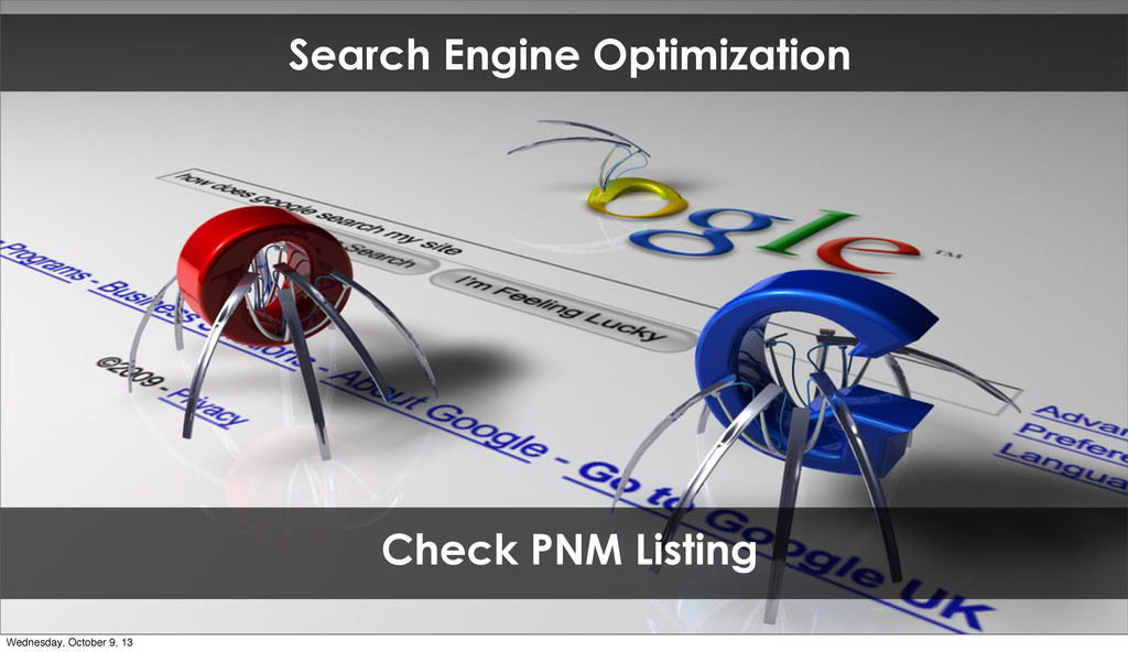 Search Engine Optimization Check PNM Listing We...