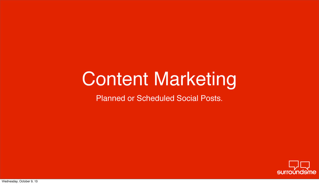 Content Marketing Planned or Scheduled Social P...