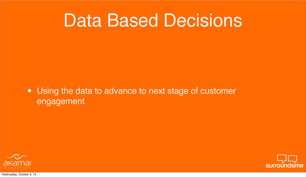 Data Based Decisions • Using the data to advanc...