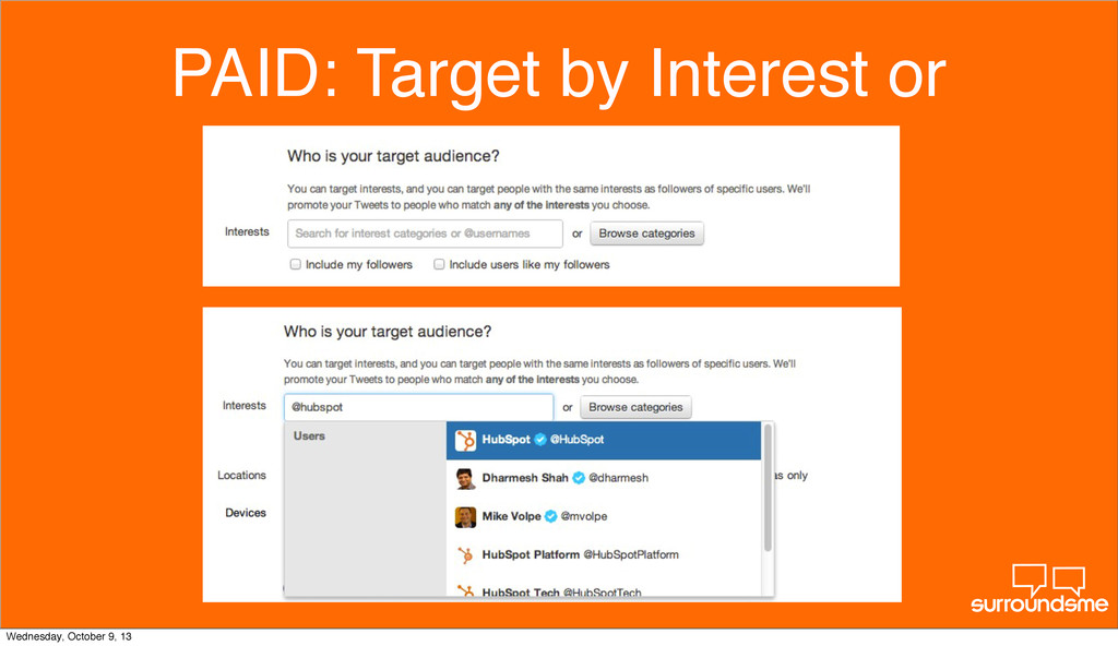 PAID: Target by Interest or Wednesday, October ...