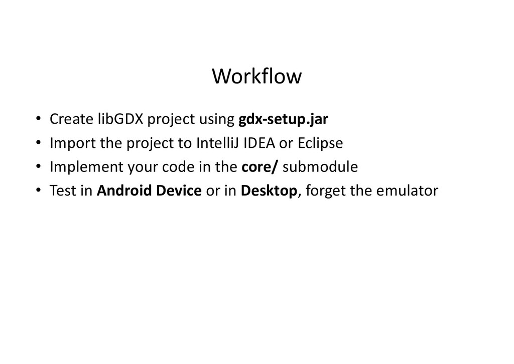 Workflow • Create libGDX project using gdx-setu...