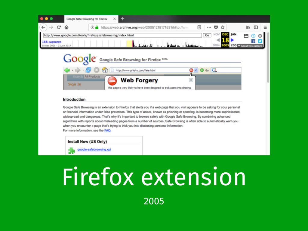 Firefox extension 2005