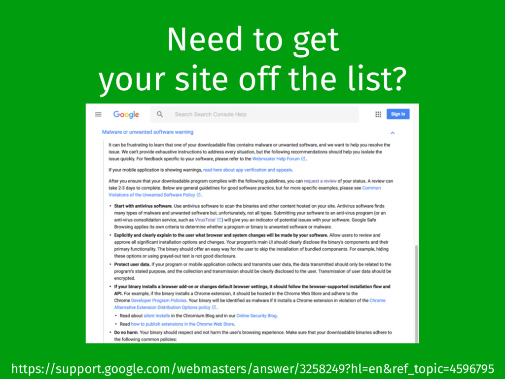 Need to get your site off the list? https://sup...