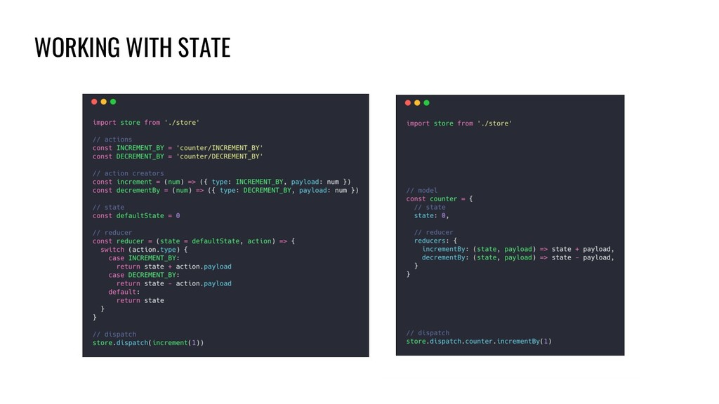 WORKING WITH STATE
