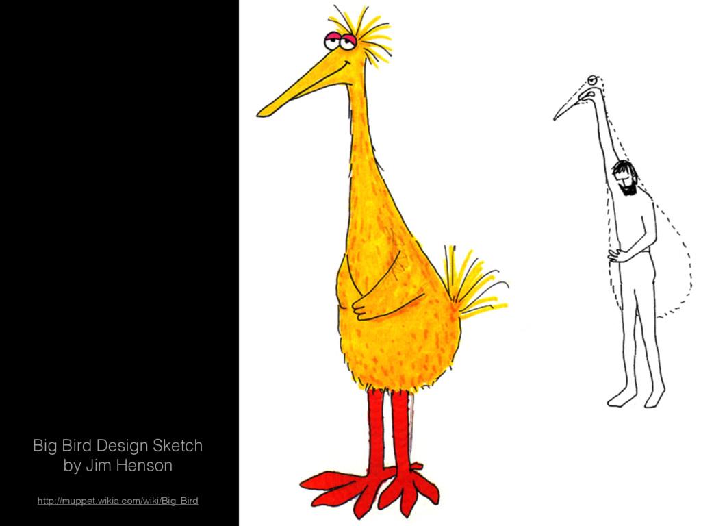 Big Bird Design Sketch by Jim Henson http://mup...
