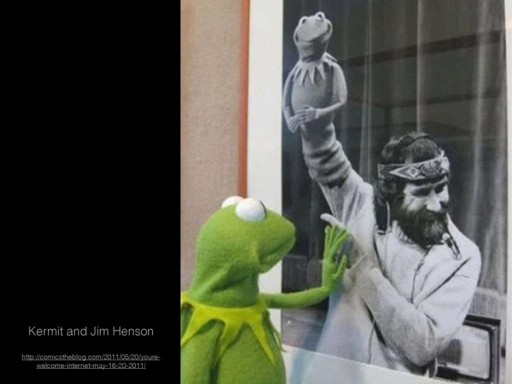 Kermit and Jim Henson http://comicstheblog.com/...