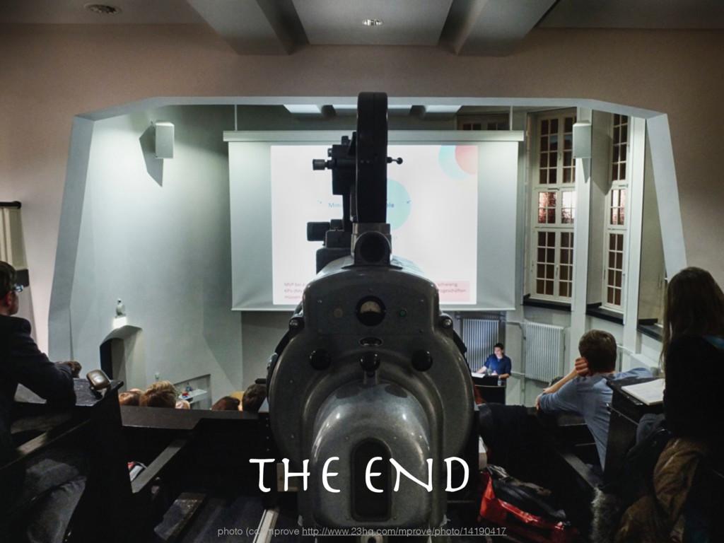 The END photo (cc) mprove http://www.23hq.com/m...