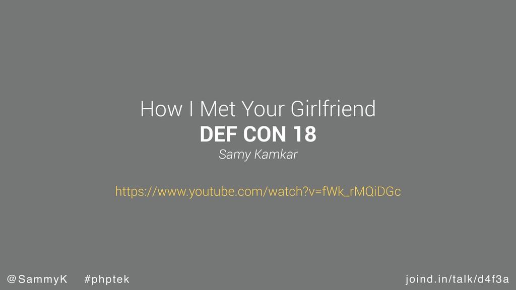 joind.in/talk/d4f3a @SammyK #phptek How I Met Y...