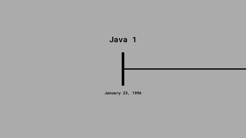 January 23, 1996 Java 1