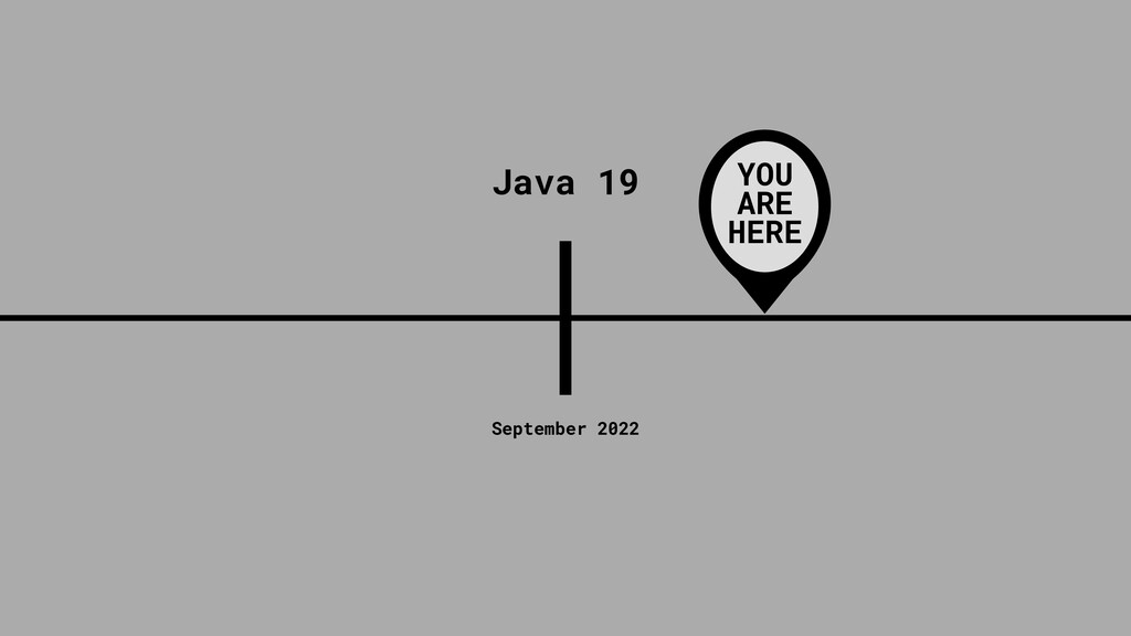 8 September 2022 Java 19 YOU ARE HERE