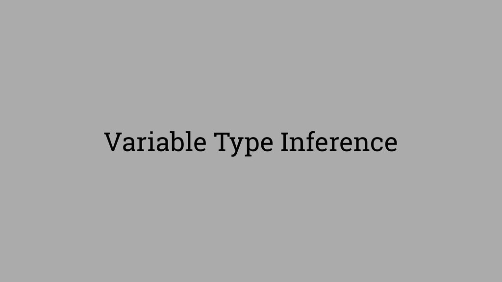 Variable Type Inference