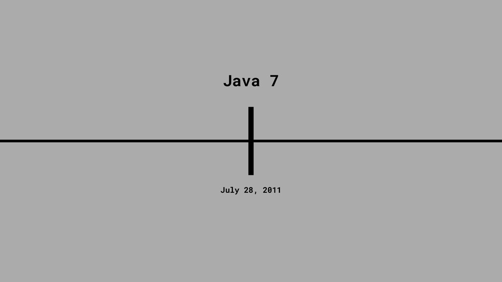 July 28, 2011 Java 7