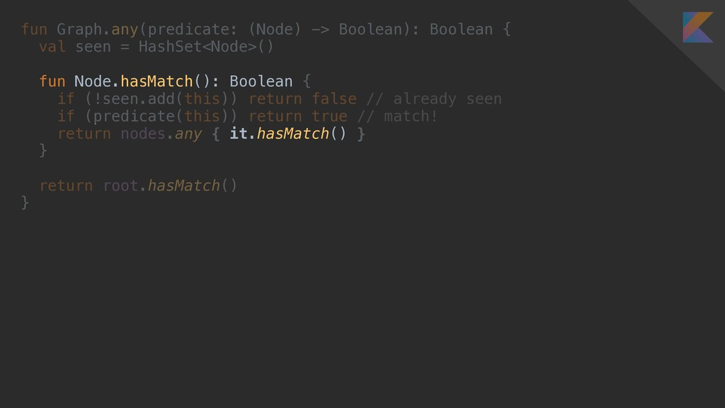 fun Graph.any(predicate: (Node) -> Boolean): Bo...