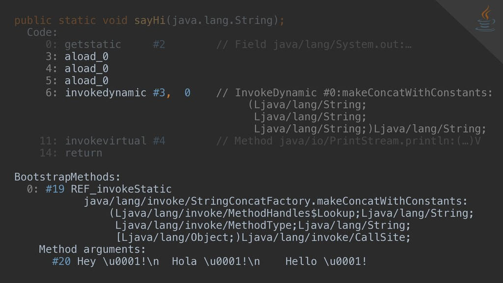public static void sayHi(java.lang.String); Cod...