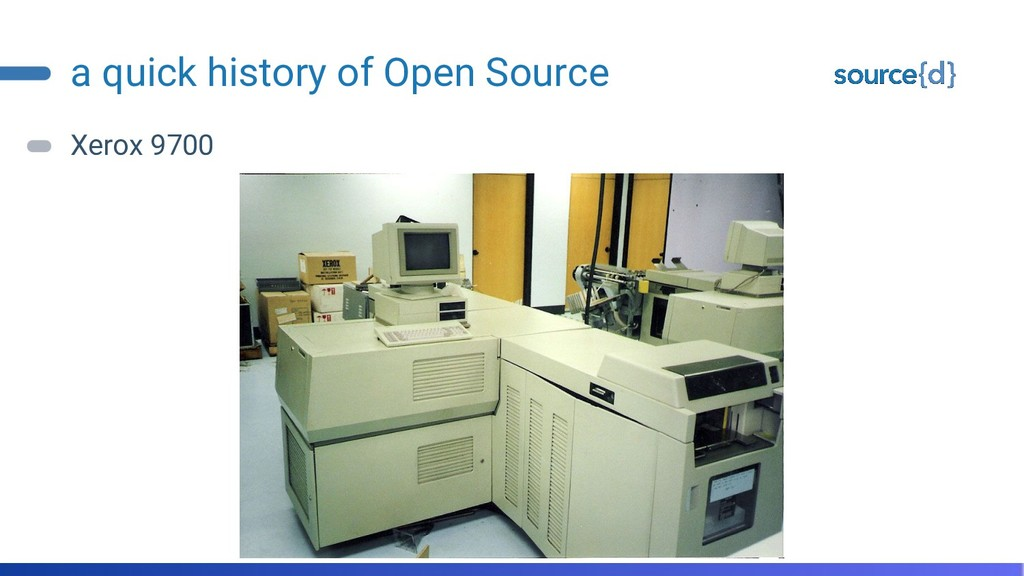 a quick history of Open Source Xerox 9700