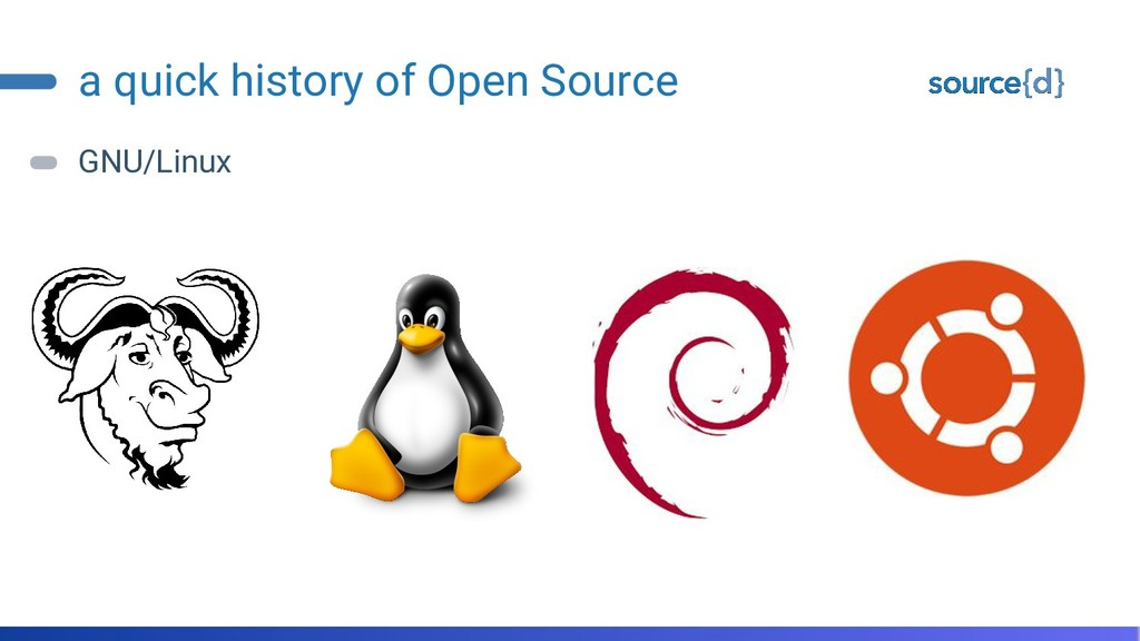 a quick history of Open Source GNU/Linux