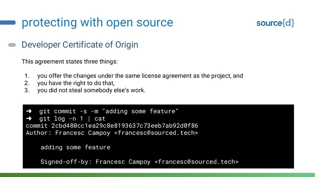 protecting with open source Developer Certifica...