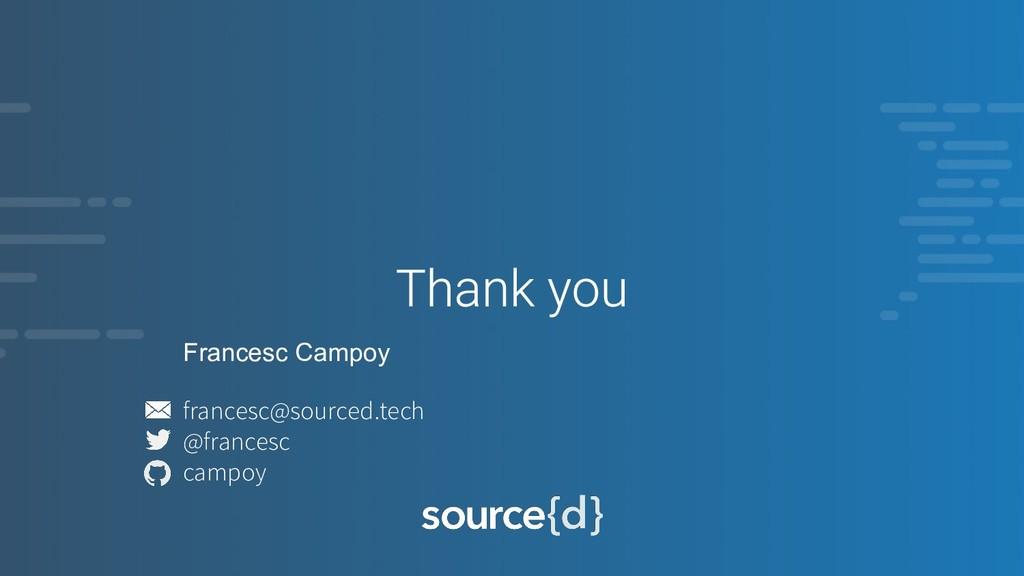 Francesc Campoy francesc@sourced.tech @francesc...