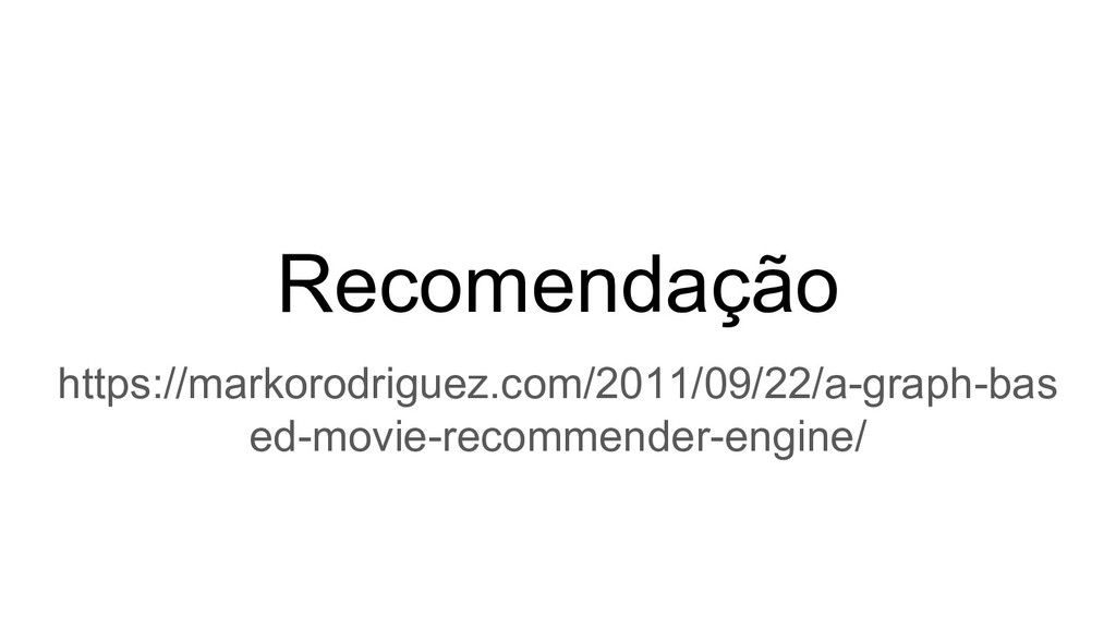 Recomendação https://markorodriguez.com/2011/09...