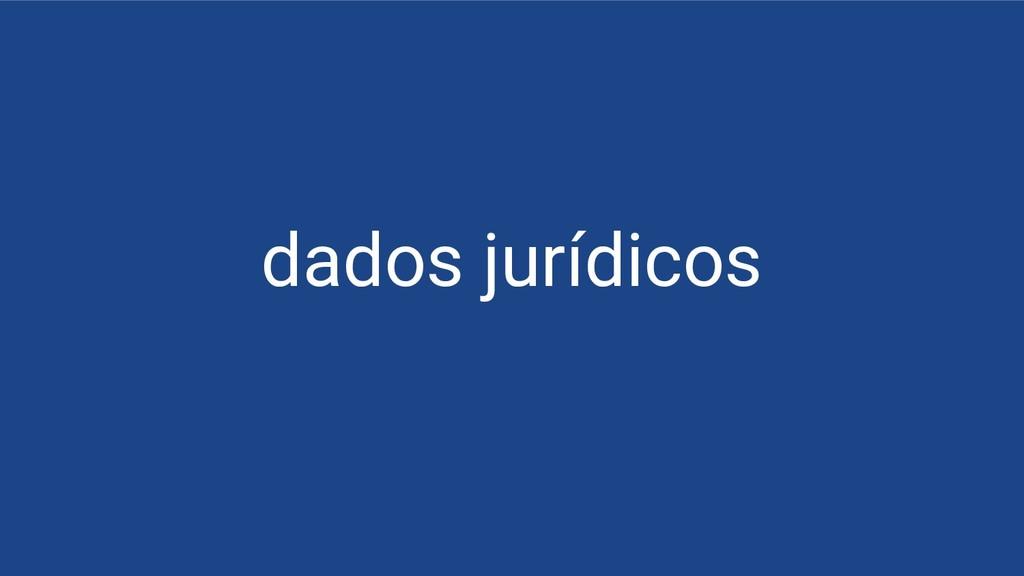 dados jurídicos