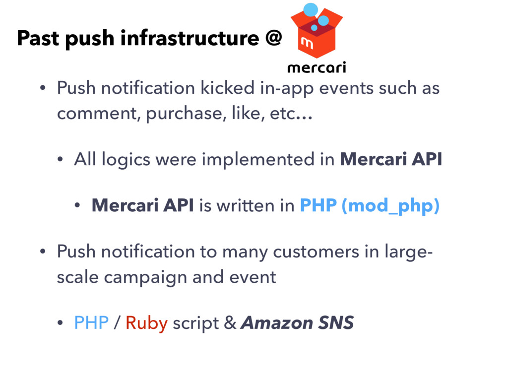 • Push notification kicked in-app events such as...