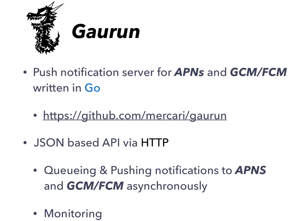 • Push notification server for APNs and GCM/FCM ...