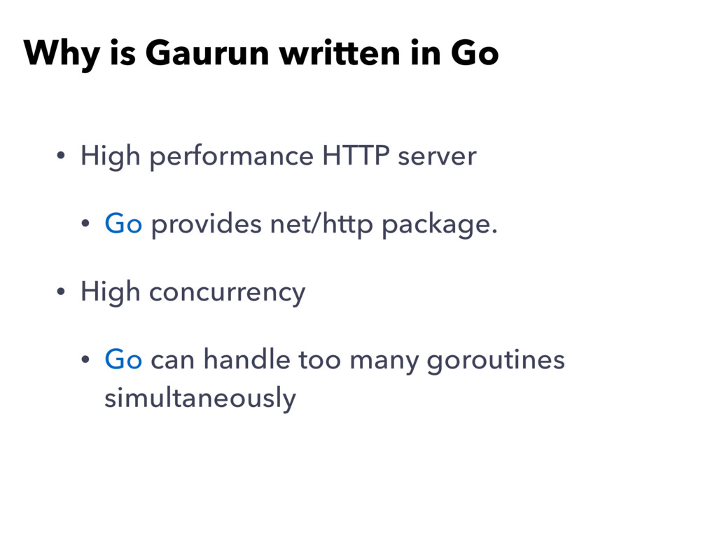 Why is Gaurun written in Go • High performance ...