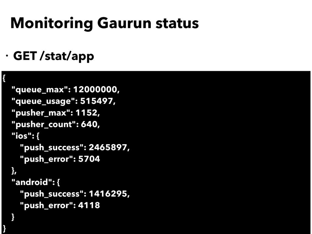 "Monitoring Gaurun status ・GET /stat/app { ""queu..."