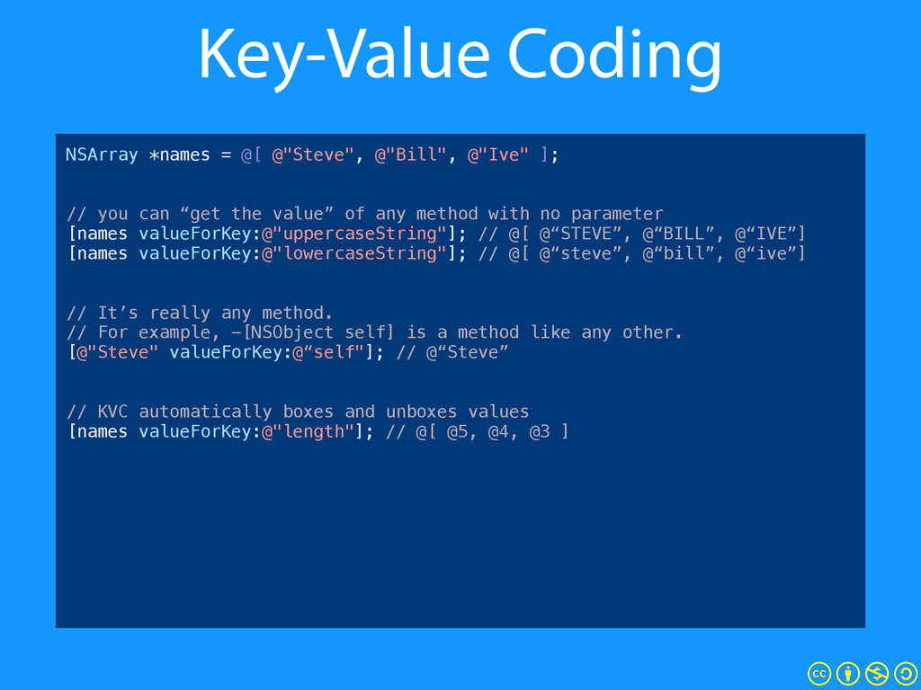 Key-Value Coding MGACustomer *c1 = [[MGACustome...