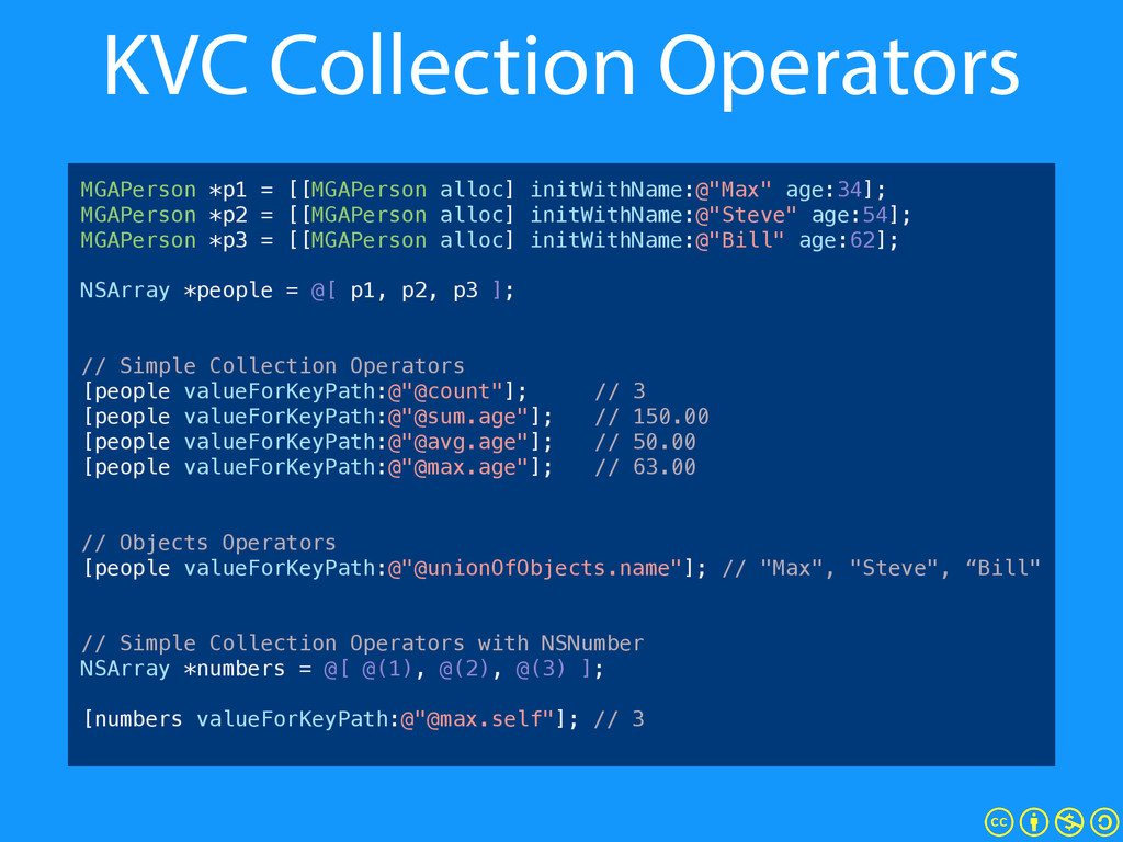 KVC Collection Operators MGAPerson *p1 = [[MGAP...