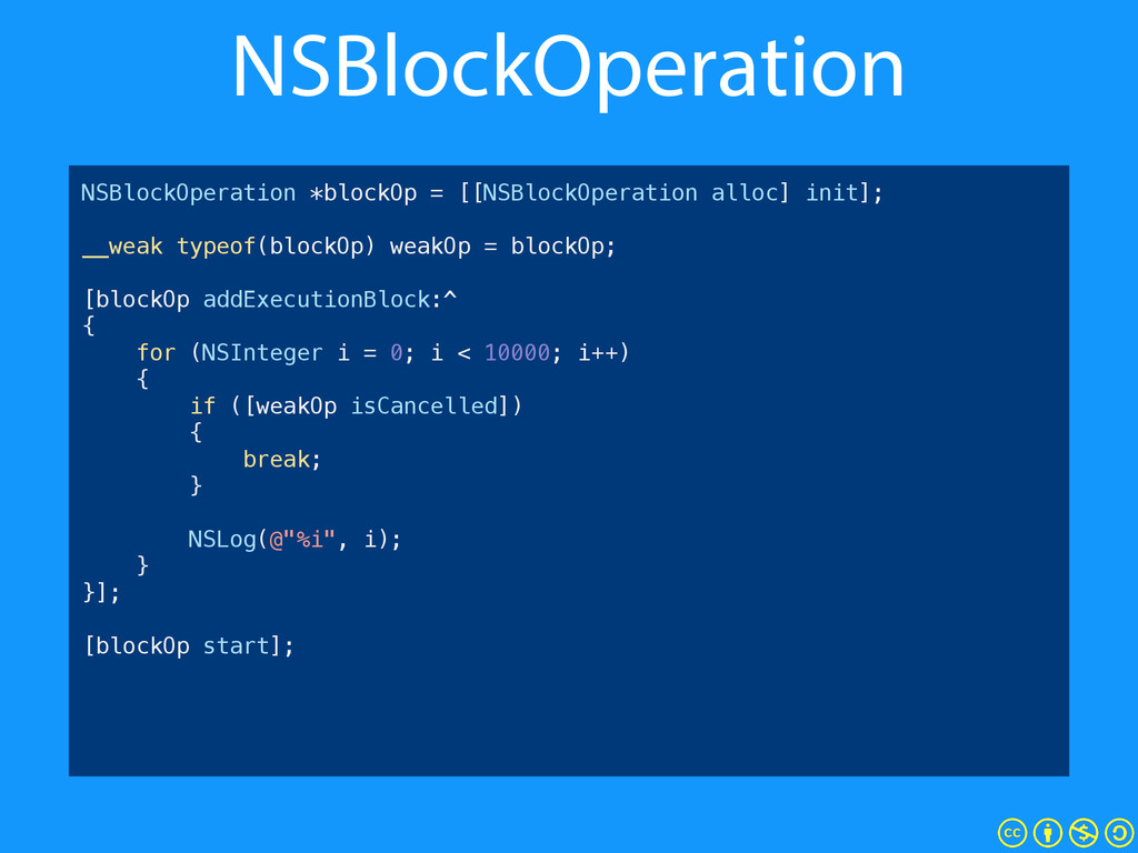 NSBlockOperation NSBlockOperation *blockOp = [[...