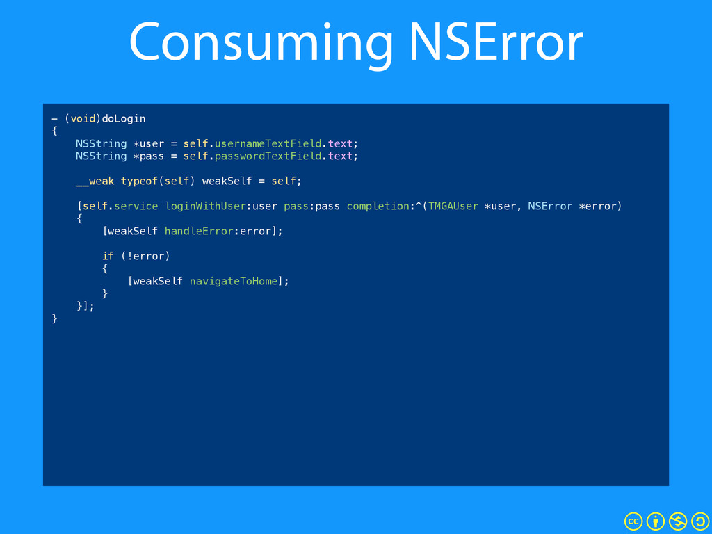 Consuming NSError - (void)doLogin { NSString *u...