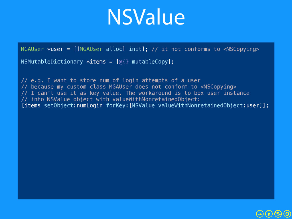 NSValue NSMutableArray *items = [@[] mutableCop...