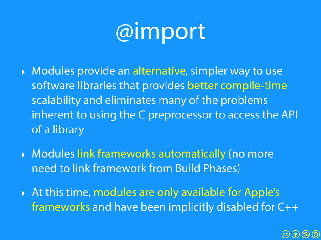 @import ‣ Modules provide an alternative, simpl...