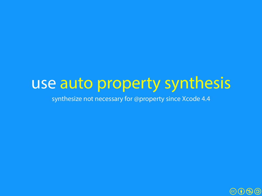 use auto property synthesis synthesize not nece...