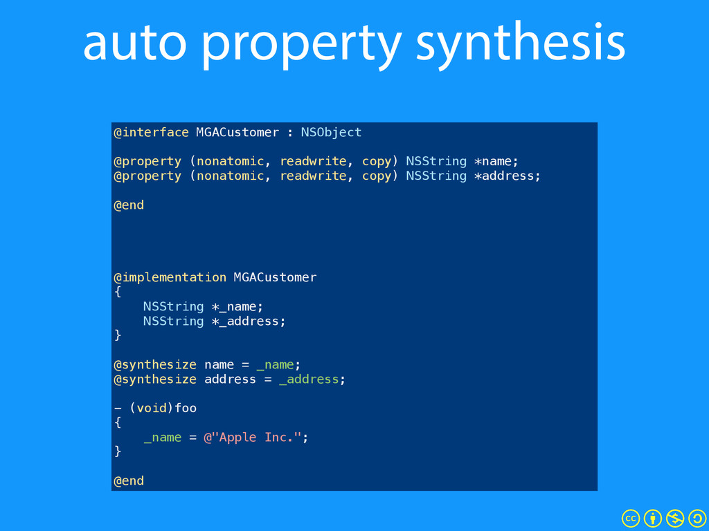 auto property synthesis @interface MGACustomer ...