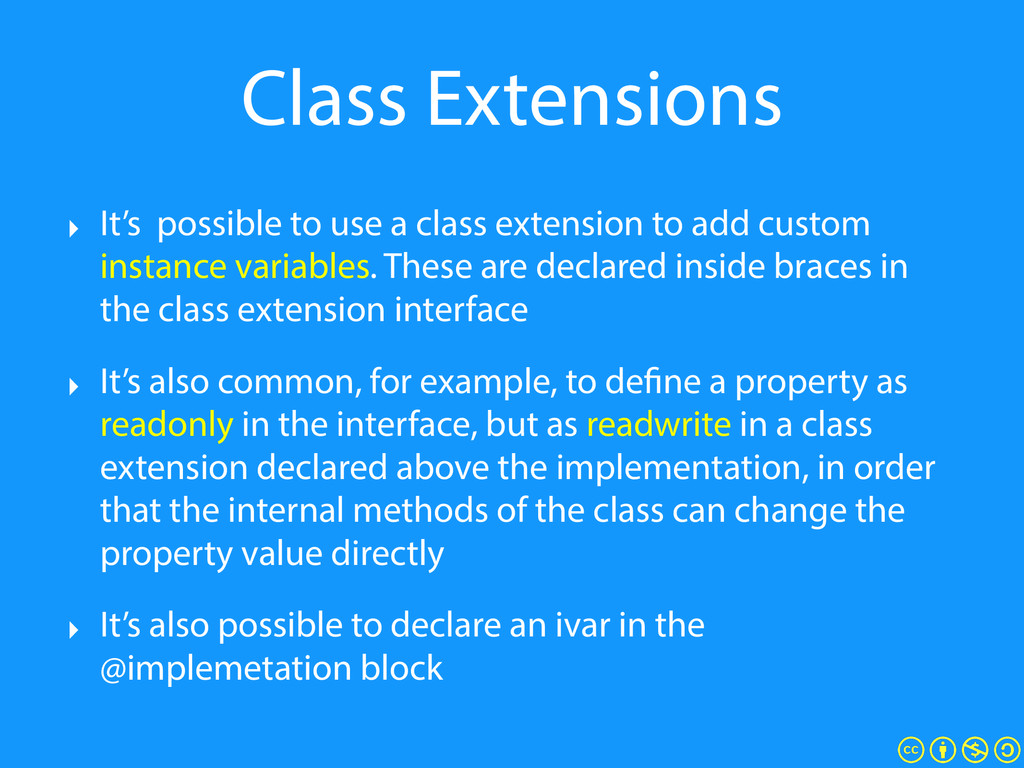 Class Extensions ‣ It's possible to use a class...