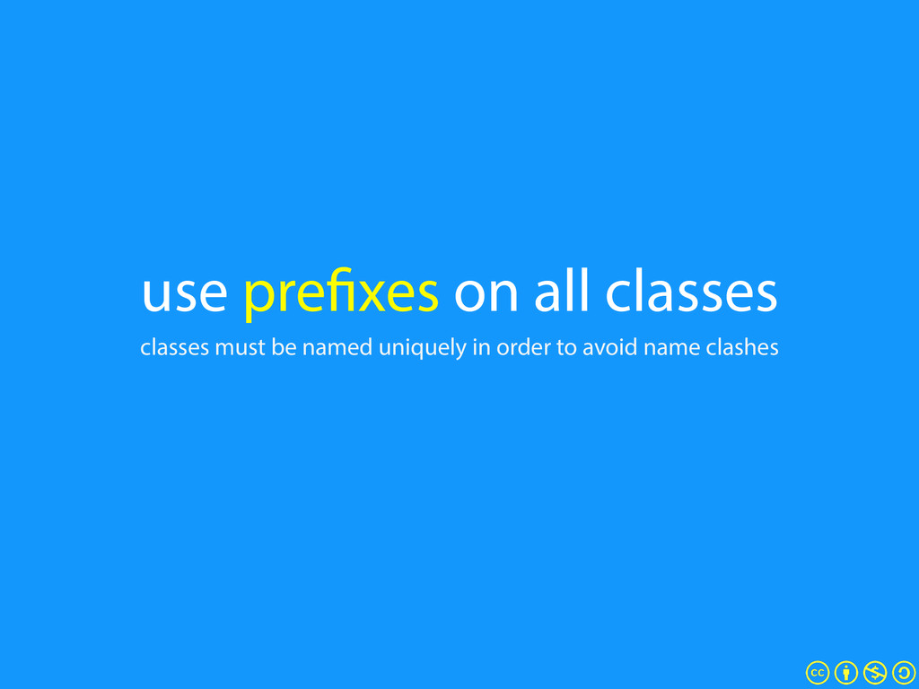 use prefixes on all classes classes must be nam...