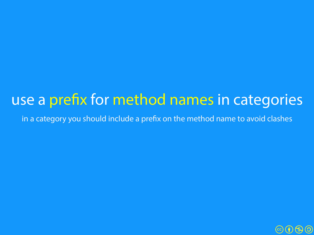 use a prefix for method names in categories in ...