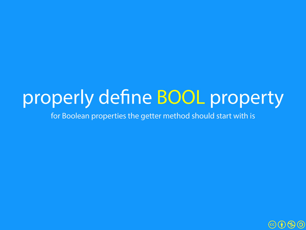 properly define BOOL property for Boolean prope...