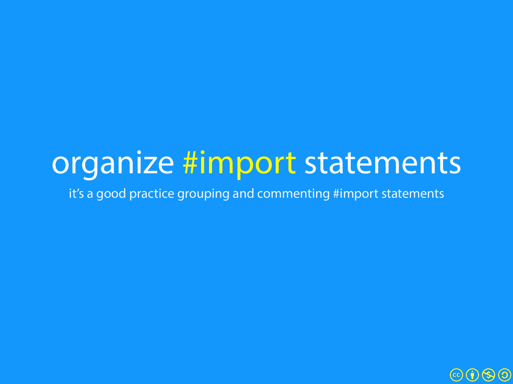 organize #import statements it's a good practic...