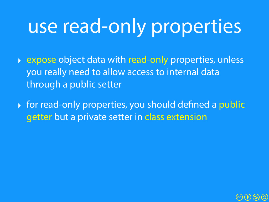 use read-only properties ‣ expose object data w...