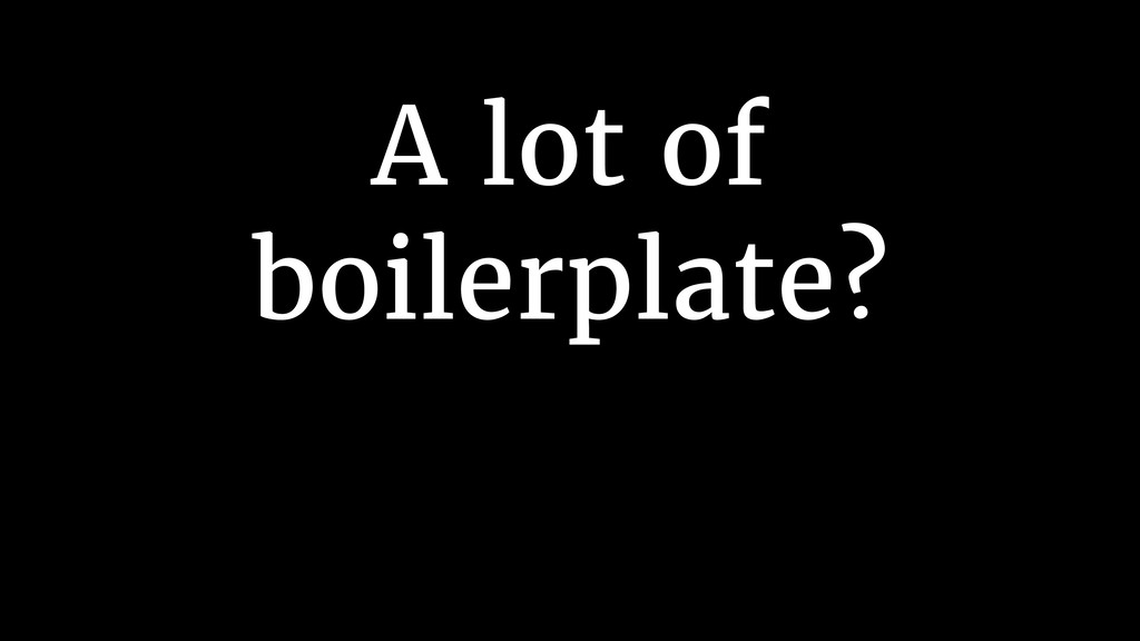 A lot of 