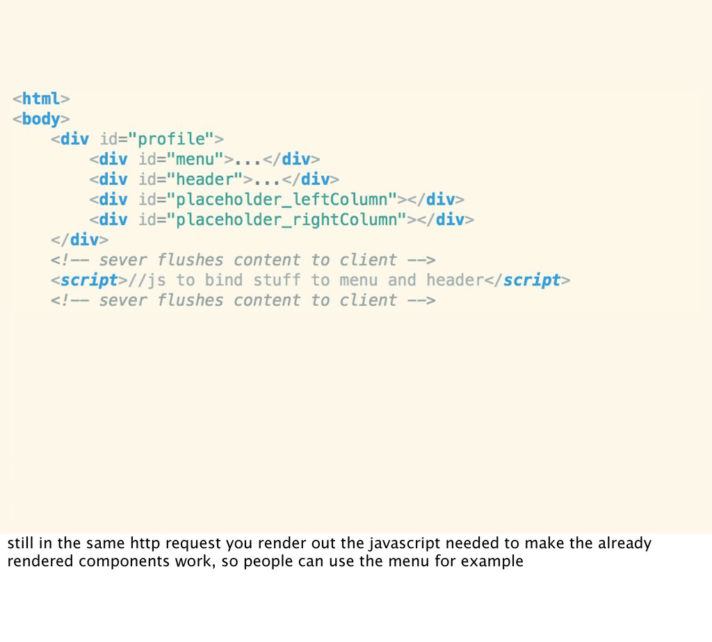 still in the same http request you render out t...