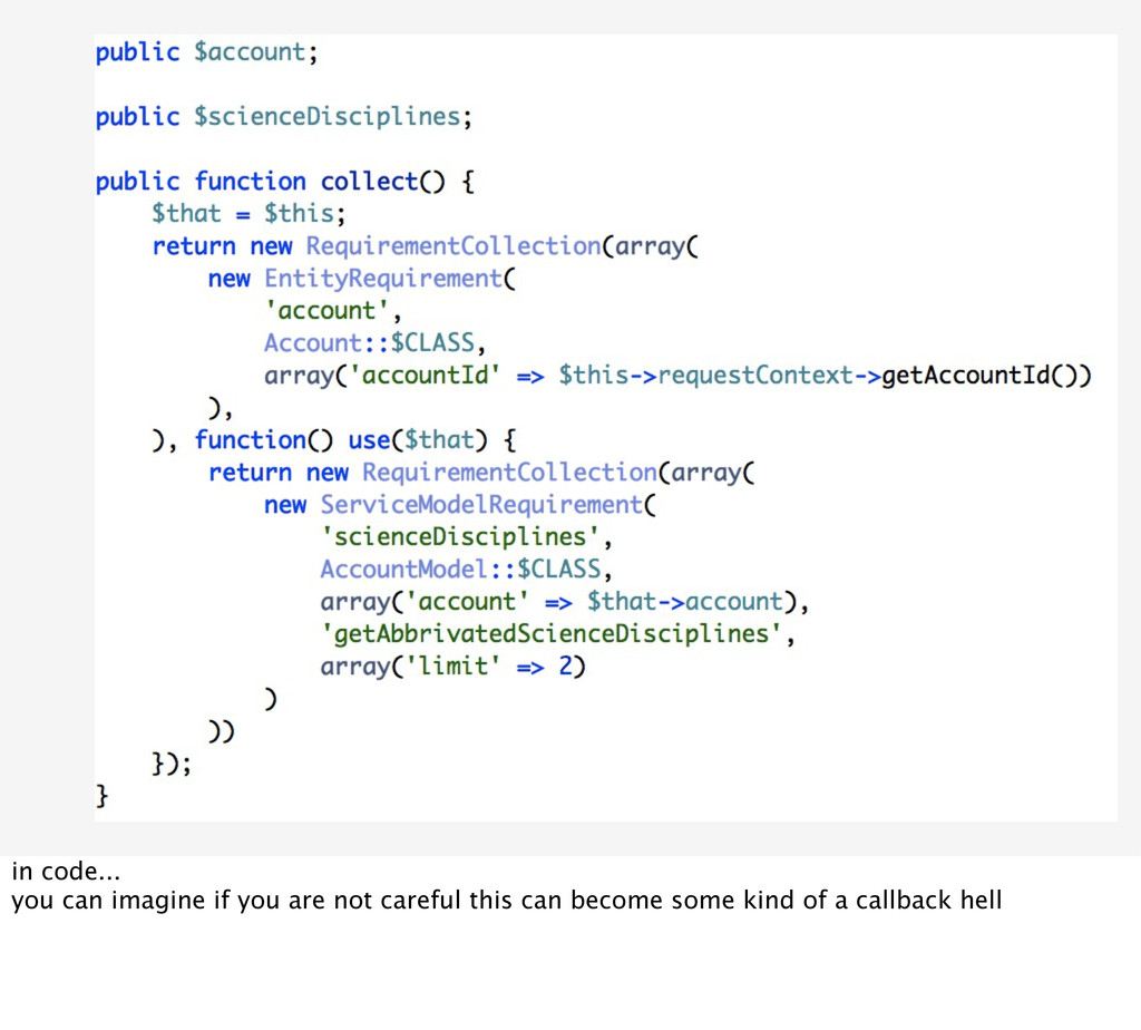 in code... you can imagine if you are not caref...