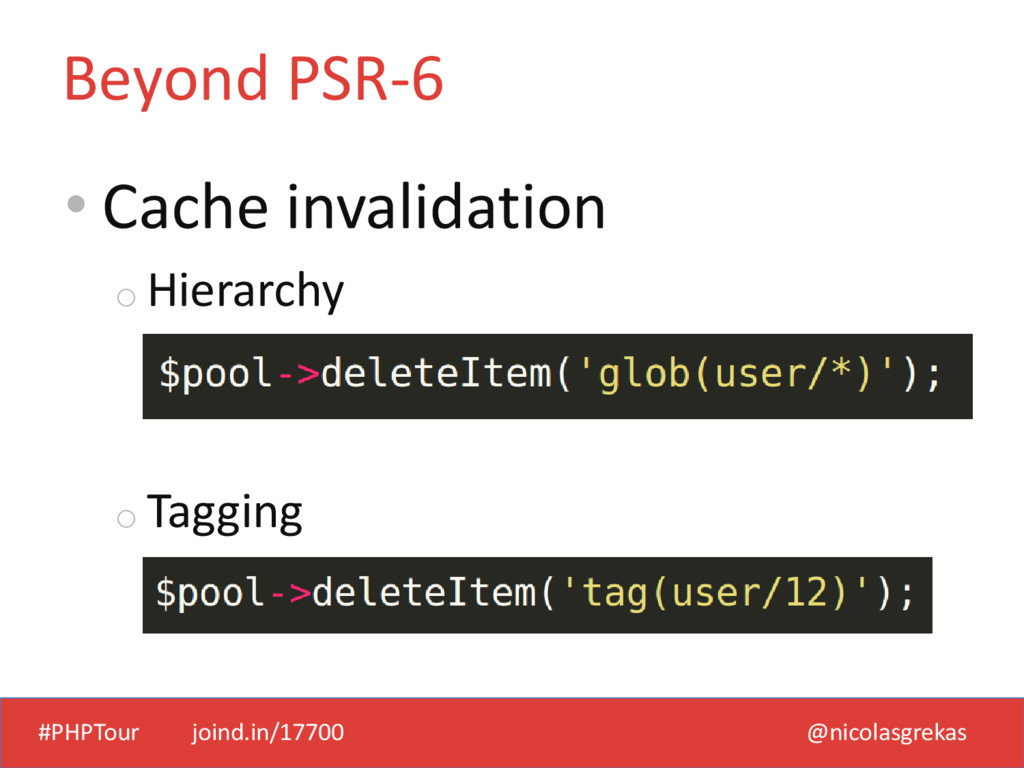 #PHPTour joind.in/17700 @nicolasgrekas • Cache ...