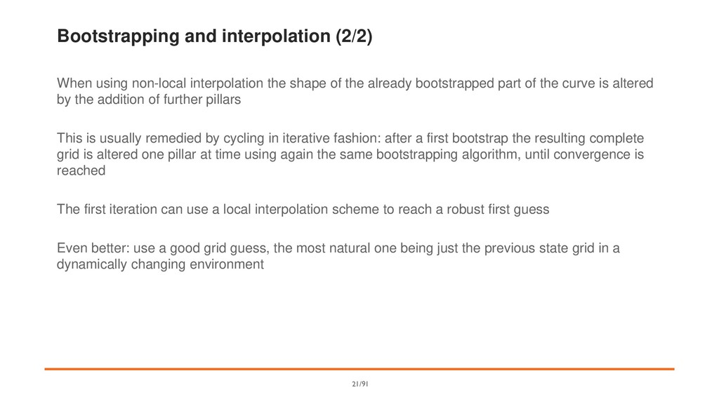 Bootstrapping and interpolation (2/2) When usin...