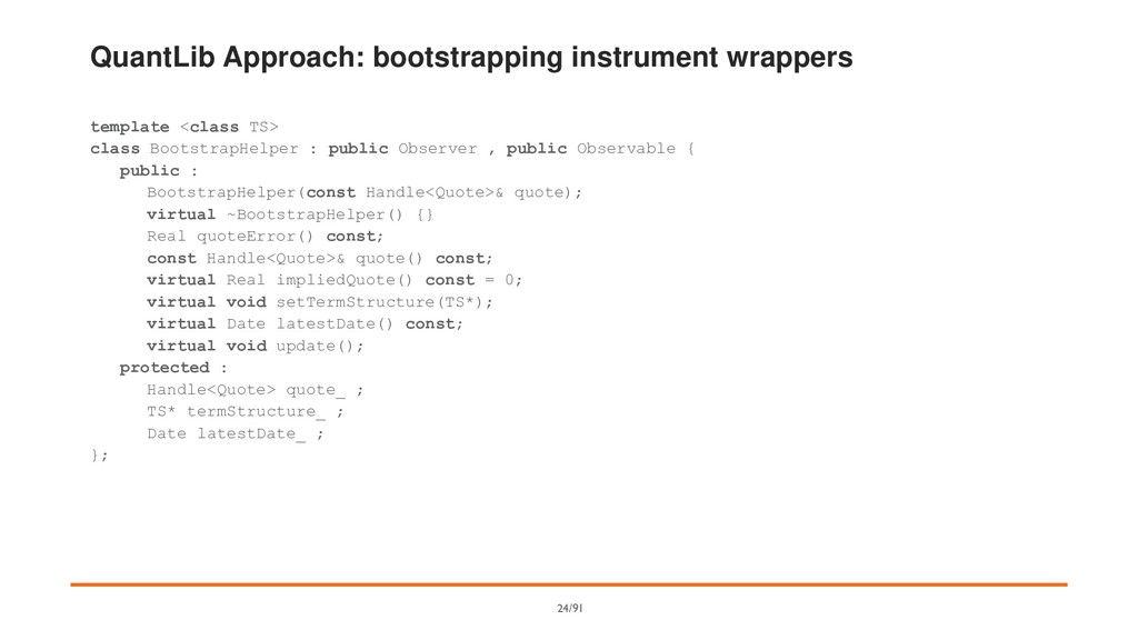 QuantLib Approach: bootstrapping instrument wra...